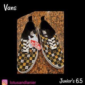 Vans Dog / Cat Design Juniors Sz 6.5